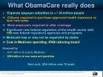 what obamacare really does