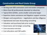 construction and real estate group