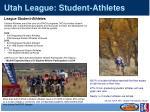 utah league student athletes