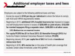 additional employer taxes and fees