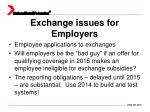 exchange issues for employers