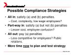 possible compliance strategies