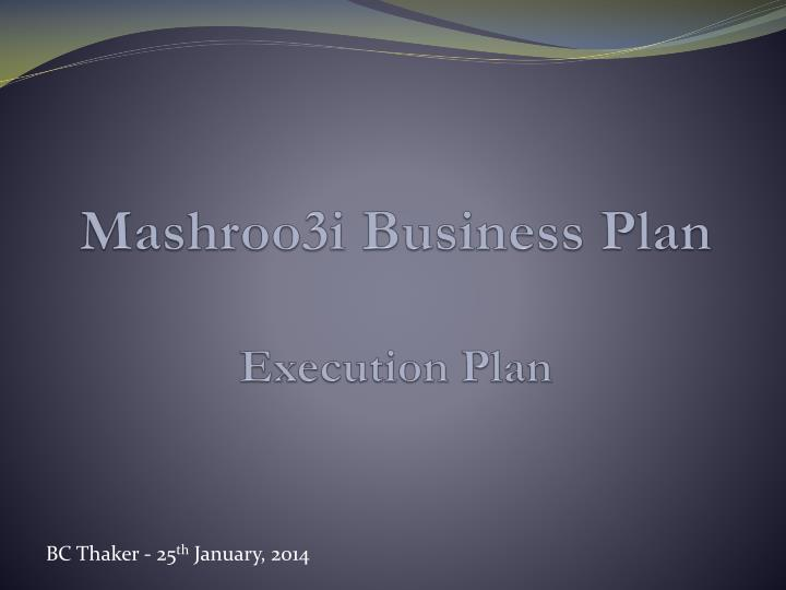 mashroo3i business plan execution plan n.