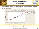 linear regression optional
