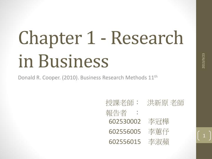 chapter 1 research in business n.