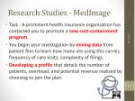 research studies medimage