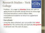 research studies york college