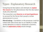 types explanatory research