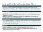 border and identity services innovation value delivered