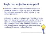 single cost objective example b