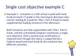 single cost objective example c