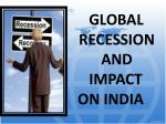global recession and impact on india