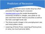 predictors of recession