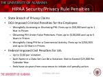 hipaa security privacy rule penalties