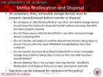media reallocation and disposal