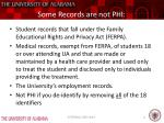 some records are not phi
