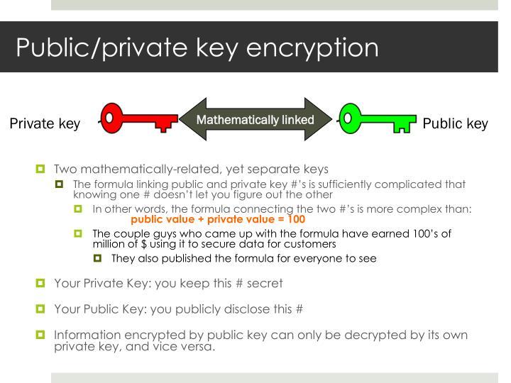 Public/private key encryption