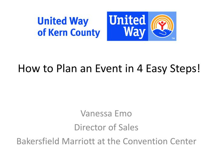 how to plan an event in 4 easy steps n.