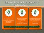 effect of the external environment on strategic planning