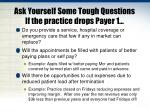 ask yourself some tough questions if the practice drops payer 1