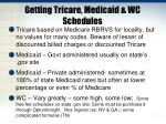 getting tricare medicaid wc schedules