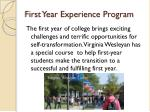 first year experience program