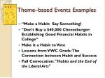 theme based events examples