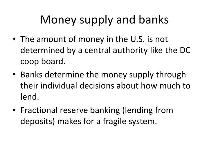 Money supply and banks