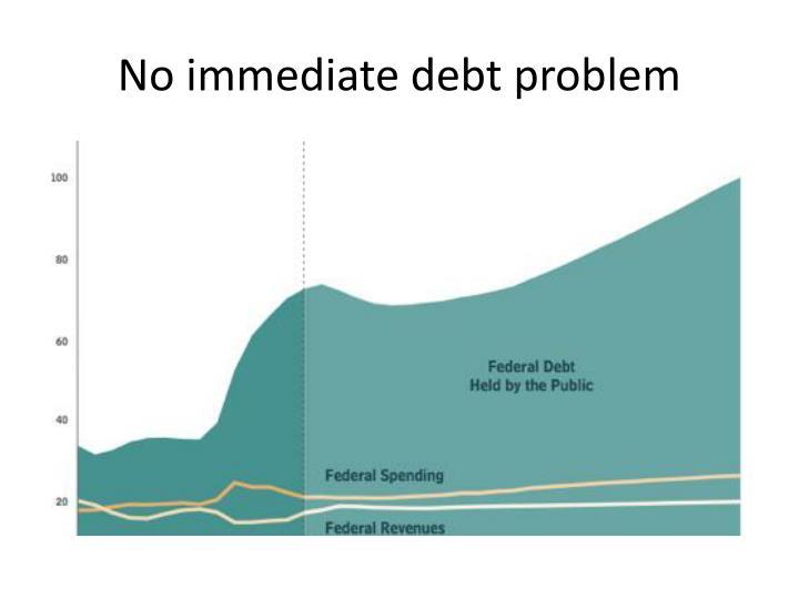 No immediate debt problem