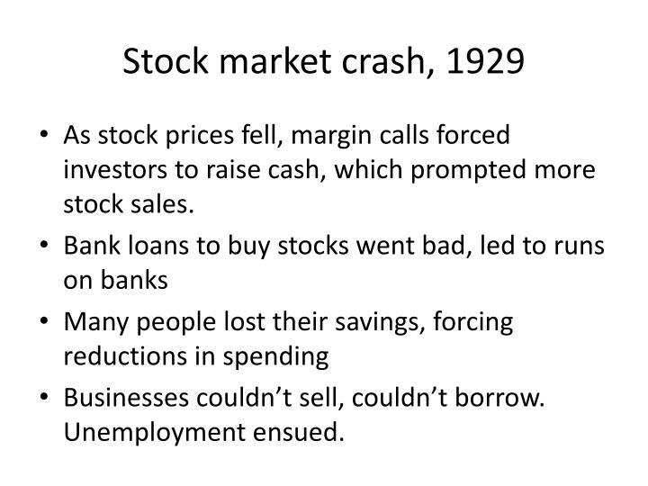 Stock market crash, 1929