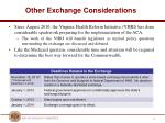 other exchange considerations