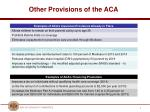 other provisions of the aca