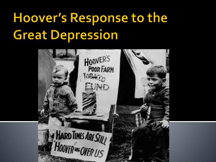 hoover s response to the great depression n.