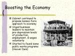 boosting the economy