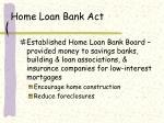home loan bank act