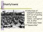 shantytowns