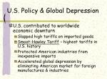 u s policy global depression