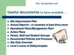 useful documents to have available