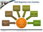 fsco regulatory core activities