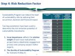 step 4 risk reduction factor