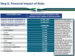 step 6 financial impact of risks