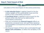 step 6 total impact of risk
