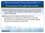 benchmark plan benefits essential health benefits