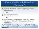 essential health benefits package