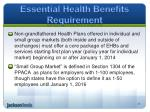 essential health benefits requirement