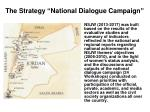 the strategy national dialogue campaign