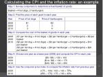 calculating the cpi and the inflation rate an example