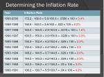 determining the inflation rate3