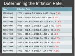 determining the inflation rate4
