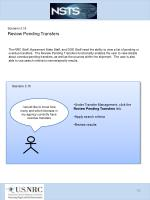 scenario 3 15 review pending transfers